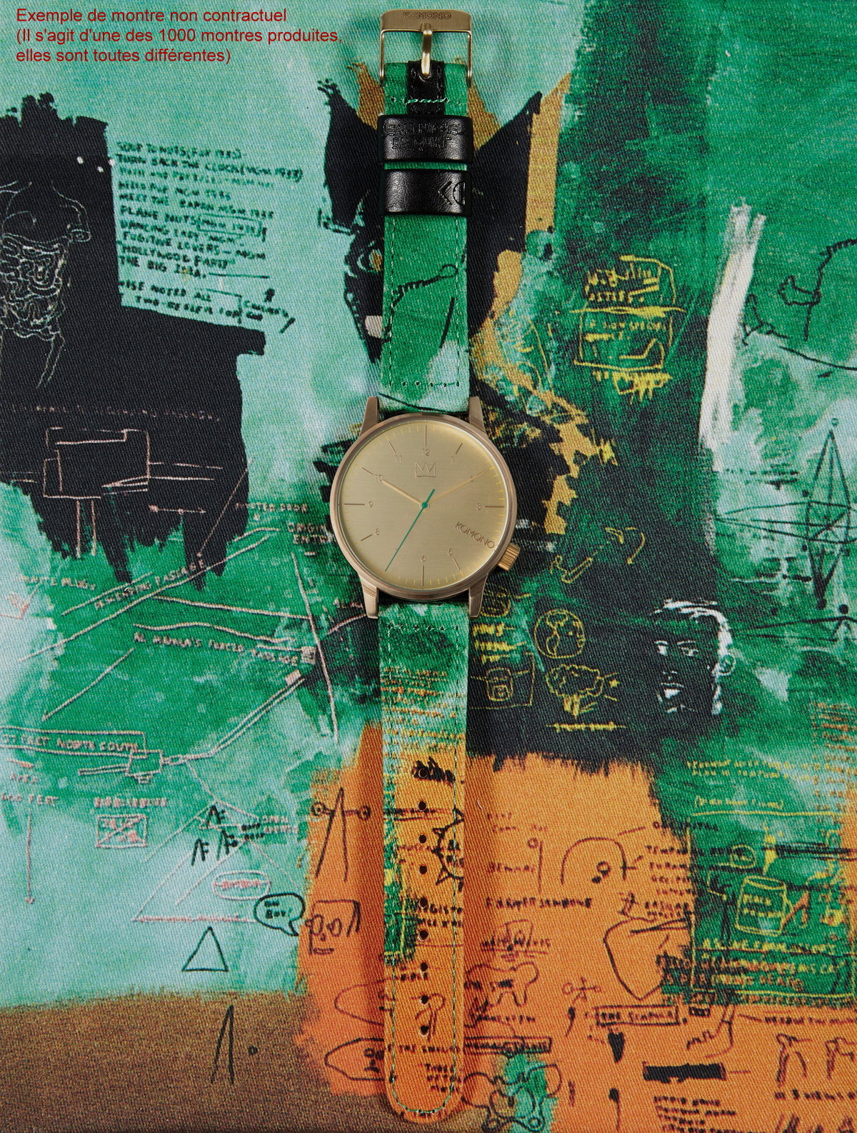 Jean Michel Basquiat Watch Untitled 1984