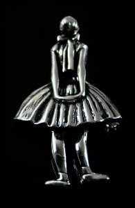 Degas Jewellery : Brooch Pendant : The Little Fourteen Years Old Dancer (Silvery coloured)