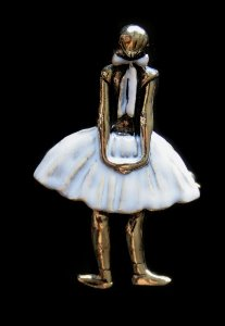 Degas Jewellery : Brooch Pendant : The Little Fourteen Years Old Dancer