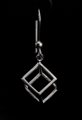 Leonardo Da Vinci Silver earrings : Cube, detail n°3