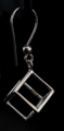 Leonardo Da Vinci Silver earrings : Cube, detail n°4