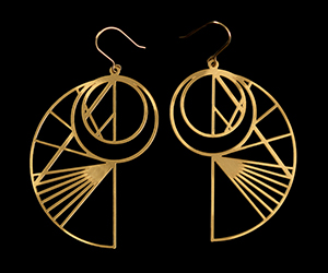 Da Vinci Earrings : Sketches n°1 (gold)