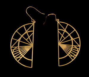 Da Vinci Earrings : Sketches n°2 (gold)