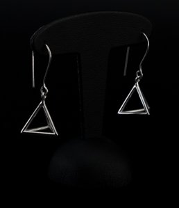 Leonardo Da Vinci Silver earrings : Pyramid