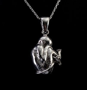 Leonardo Da Vinci Jewellery : Silver pendant : Child