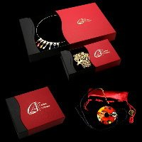 Presentation boxes and purse for jewels