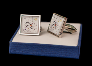 Kandinsky Cufflinks : Grey Square