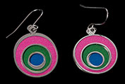 Kandinsky earrings : Concentric circles