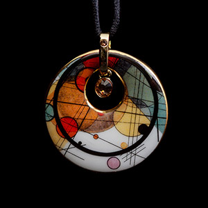 Kandinsky Jewel : amulett pendant : Circles in a Circle, Crystal Circle