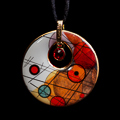 Kandinsky pendant : Circles in a Circle, Crystal Circle, (back of the jewel)
