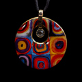 Kandinsky pendant : Color Study, Crystal Circle