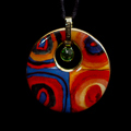 Kandinsky pendant : Color Study, Crystal Circle, (back of the jewel)