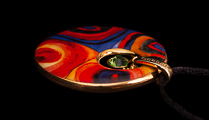 Kandinsky pendant : Color Study, Crystal Circle, detail n°2