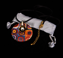 Kandinsky pendant : Color Study, Crystal Circle (velvet purse)