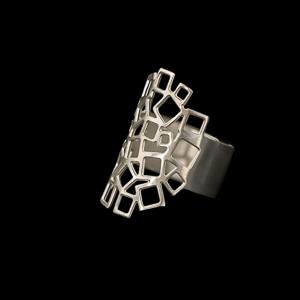 Gustav Klimt Jewel, Ring : Art Nouveau (silver finish)
