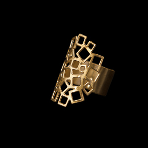 Gustav Klimt ring : Art Nouveau (gold finish)