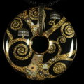 Klimt pendant : Fulfillment, (back of the jewel)