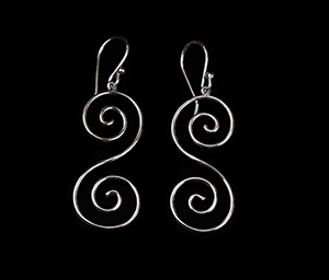 Gustav Klimt earrings : Volutes