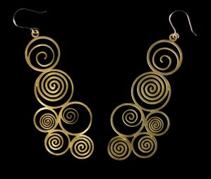 Gustav Klimt Jewel, Earrings : The tree of life