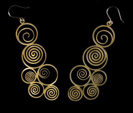 Klimt earrings : The tree of life
