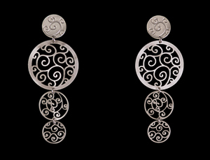 Klimt Earrings : Art Nouveau (silver)