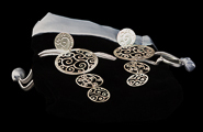 Klimt earrings : Art Nouveau (silver finish) (detail 1)