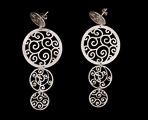 Klimt earrings : Art Nouveau (silver finish) (detail 2)