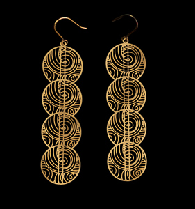Klimt Earrings : Art Nouveau (gold)