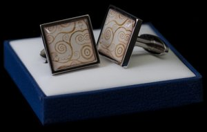 Gustav Klimt Cufflinks : The tree of life
