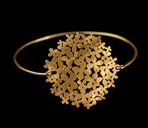 Bracelet Klimt : Flower Garden (gold finish)