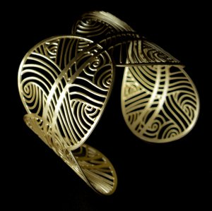Gustav Klimt Bracelet cuff : The tree of life