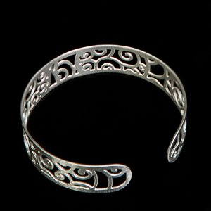 Bracelet Klimt : La The Stoclet Frieze (silver finish)