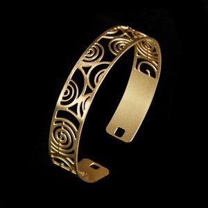 Bracelet Klimt : La The Stoclet Frieze (gold finish)