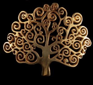 Gustav Klimt Jewellery : Brooch Pendant : The tree of life