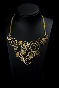 Gustav Klimt Jewel, necklace : The tree of life