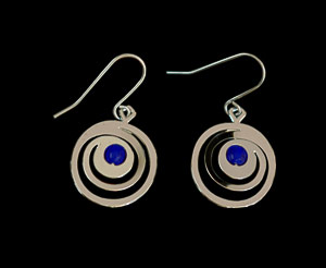 Gustav Klimt earrings : Art Nouveau spirals (silver finish)