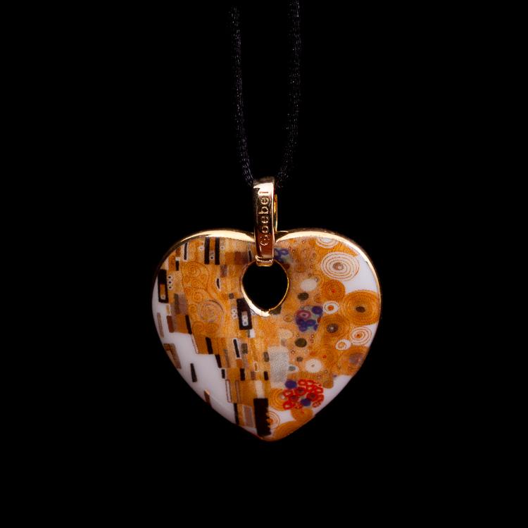Gustav Klimt The Kiss Necklace Handmade art necklace gift for her art necklaces