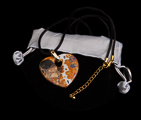 Klimt pendant : The kiss (velvet purse)