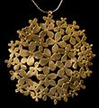 Klimt pendant : Flower Garden (gold finish)