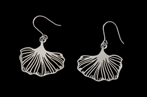 Tiffany Earrings : Ginkgo n°1 (Silver finish)