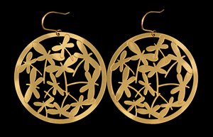 Tiffany Earrings : Dragonflies (gold)