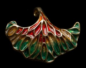 Louis C. Tiffany Jewellery : Brooch Pendant : Poppy flower