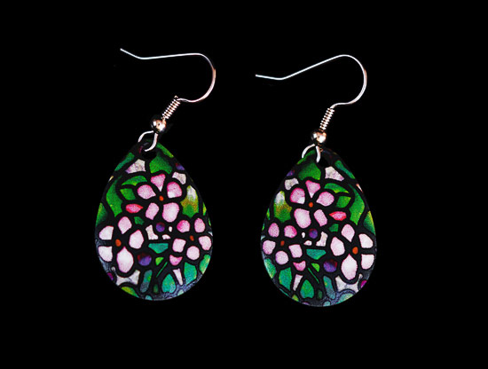 Pendientes Louis C. Tiffany : Cherry Blossoms
