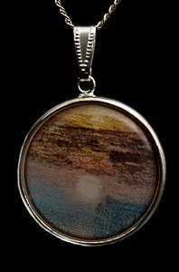 Bijou William Turner : Pendentif Fighting Temeraire