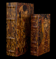 Set of 2 Gustav Klimt boxes : The kiss & Adele Bloch, detail n°1