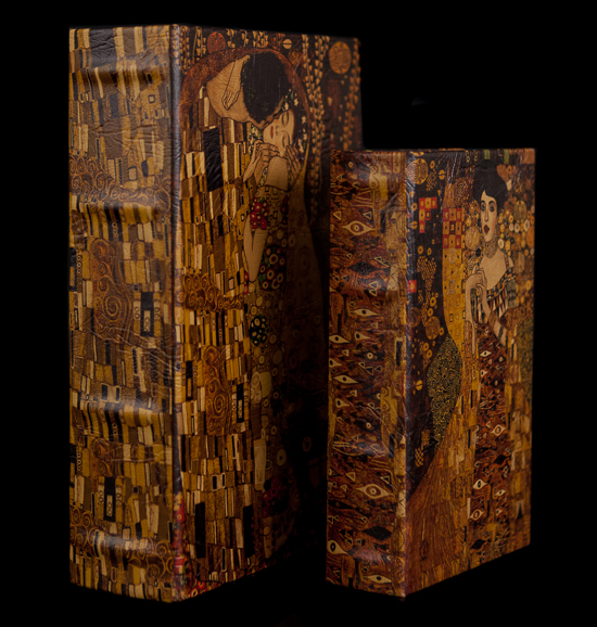 Set of 2 Gustav Klimt boxes : The kiss & Adele Bloch