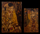 Set of 2 Gustav Klimt boxes : The kiss & Adele Bloch, detail n°2