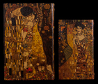 Set of 2 Gustav Klimt boxes : The kiss & Adele Bloch, detail n°3