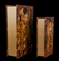Set of 2 Gustav Klimt boxes : The kiss & Adele Bloch, detail n°4