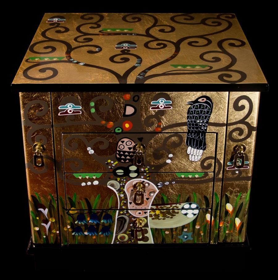 Klimt L Arbre De Vie Tableau coffre à bijoux gustav klimt en bois laqué et dorures : l